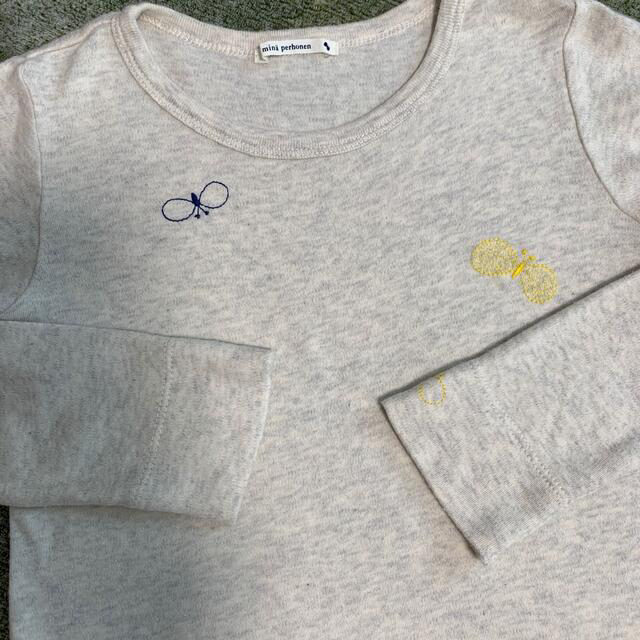 mina perhonen(ミナペルホネン)のミナペルホネン キッズ ロンT 110サイズ choucho キッズ/ベビー/マタニティのキッズ服女の子用(90cm~)(Tシャツ/カットソー)の商品写真