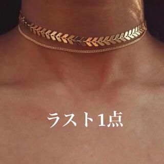 Ameri VINTAGE - 【残り1】ゴールド ネックレス チェーン チョーカー ダブル