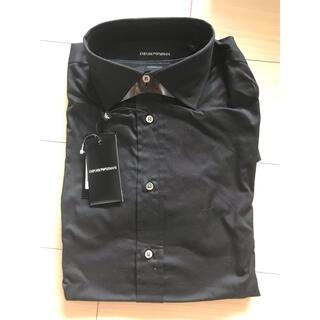 エンポリオアルマーニ(Emporio Armani)のEMPORIO ARMANI ドレスシャツ黒(シャツ)