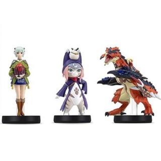 ニンテンドウ(任天堂)のモンスターハンターストーリーズ2 amiibo 三種類 全種類 セット 新品未開(ゲームキャラクター)