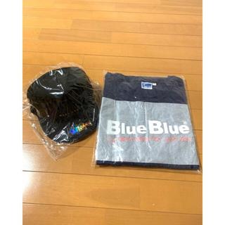 ブルーブルー(BLUE BLUE)のブルーブルーフラットキャップ &  ドライTシャツ釣り針 限定品 2個セット(ウエア)