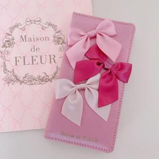 Maison de FLEUR - 【美品】♡メゾンドフルール♡リボンアイフォンケース♡ピンク♡