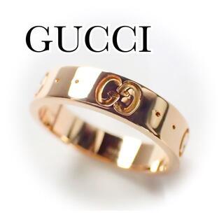 Gucci - グッチ GUCCI K18PG アイコン リング 8号 ピンクゴールド