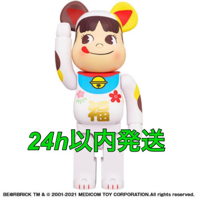 MEDICOM TOY(メディコムトイ)の【新品未開封】 BE@RBRICK 招き猫 ペコちゃん 福 1000% エンタメ/ホビーのおもちゃ/ぬいぐるみ(キャラクターグッズ)の商品写真