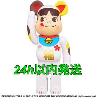メディコムトイ(MEDICOM TOY)の【新品未開封】 BE@RBRICK 招き猫 ペコちゃん 福 1000%(キャラクターグッズ)