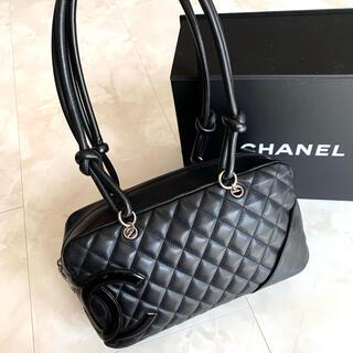 CHANEL - 正規品◆美品 CHANEL シャネル カンボン ボーリングバッグ