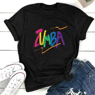 ズンバTシャツ モデル綿 普段ダンス兼用