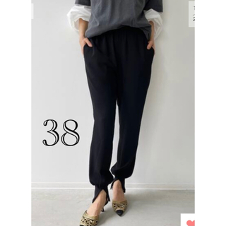 L'Appartement DEUXIEME CLASSE - 【Col Pierrot /コル ピエロ】Rib Pants ブラック 38