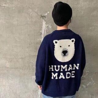 ジーディーシー(GDC)のHUMAN MADE 21AW ニット NAVY ヒューマンメイド(ニット/セーター)
