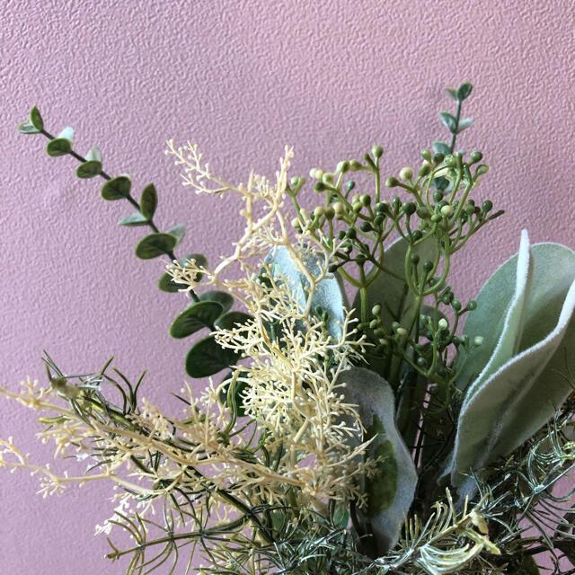 フェイクグリーン スワッグ インテリア 結婚式 パンパスグラス 造花 インテリア/住まい/日用品のインテリア小物(置物)の商品写真