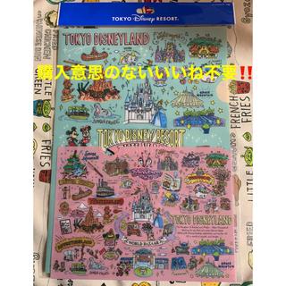 ディズニー(Disney)のディズニー 手書き風 レトロ デザイン パークマップ クリアホルダー ファイル(クリアファイル)
