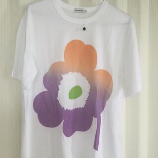 マリメッコ(marimekko)の新品今季 マリメッコ  Tシャツ 紫ウニッコ サイズ2  M相当(Tシャツ(半袖/袖なし))