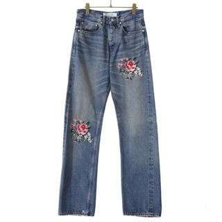 Jieda - DAIRIKU Cross Embroidery SlimDenim Pants