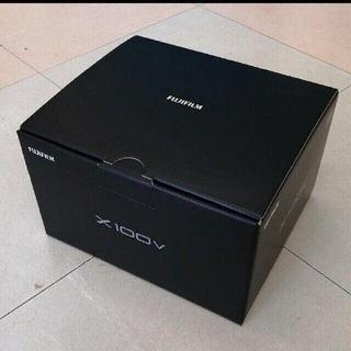 フジフイルム(富士フイルム)の新品 未開封フジフィルムFUJIFILMX100V ブラック(コンパクトデジタルカメラ)