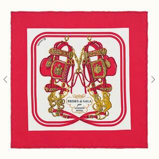 エルメス(Hermes)のレア! エルメス ナノカレ 20 ブリッドドゥガラ レッド(バンダナ/スカーフ)