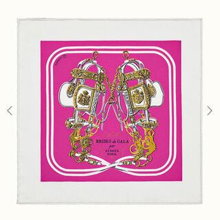 エルメス(Hermes)のレア! エルメス ナノカレ 20 ブリッドドゥガラ ピンク(バンダナ/スカーフ)