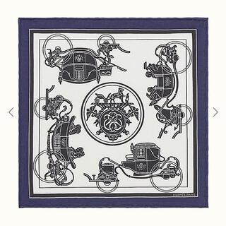 エルメス(Hermes)のレア! エルメス ナノカレ 20 エクスリブリス ネイビー(バンダナ/スカーフ)