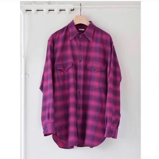COMOLI - COMOLI 21AW ウールシルクワークシャツ サイズ3 ピンク 新品未使用