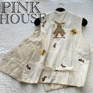 PINK HOUSE - ピンクハウス ベスト うさぎ ウサギ ベージュ