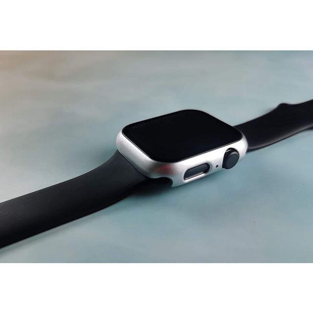 【A67】Apple Watch 画面保護ケース 耐衝撃 44mm(シルバー) スマホ/家電/カメラのスマホアクセサリー(その他)の商品写真
