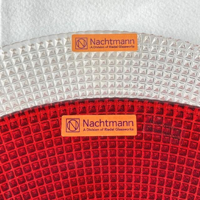 Nachtmann(ナハトマン)の未使用シールつき◆ナハトマン jazz チャージャープレート2枚 レッド クリア インテリア/住まい/日用品のキッチン/食器(食器)の商品写真