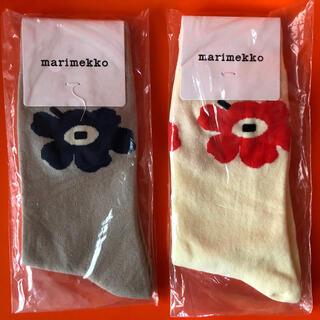 marimekko - マリメッコ marimekko ウニッコ靴下2足セット