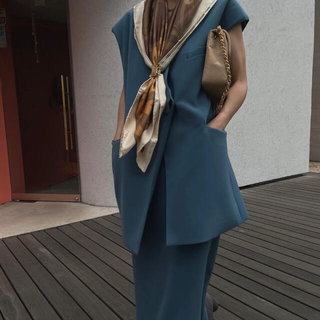 アメリヴィンテージ(Ameri VINTAGE)のAMERI OTONA WRAP VEST SET UP DRESS Sサイズ(セット/コーデ)