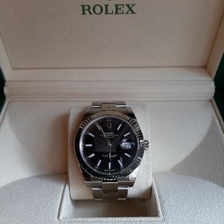 ROLEX - ロレックス デイトジャスト41 ブラック 黒文字盤 126334