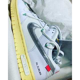 OFF-WHITE - nike dunk low off white 01 of 50 27.5cm