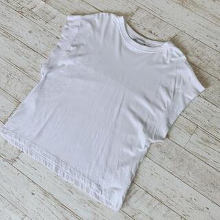 ZARA - 訳あり   ZARA  リブ編み Tシャツ  ホワイト  S