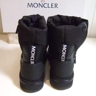 モンクレール(MONCLER)の新品 モンクレール Black Brenda パファーブーツ レザー 23.5(ブーツ)