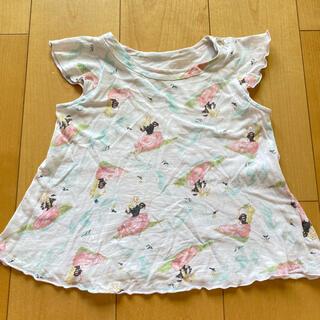 フェフェ(fafa)のfafa  Aライントップス 袖フリル 100(Tシャツ/カットソー)