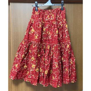PINK HOUSE - ピンクハウス くだもの柄フレアマキシスカート
