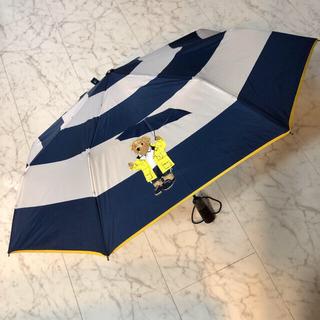 ポロラルフローレン(POLO RALPH LAUREN)のポロ ラルフローレン POLO 折りたたみ 傘 ロゴ ポロベア クマ ブランド傘(傘)