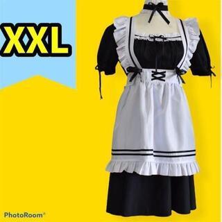 メイド服 ゴスロリ コスプレ ロリータ ハロウィン パーティー 小悪魔 3L(衣装一式)