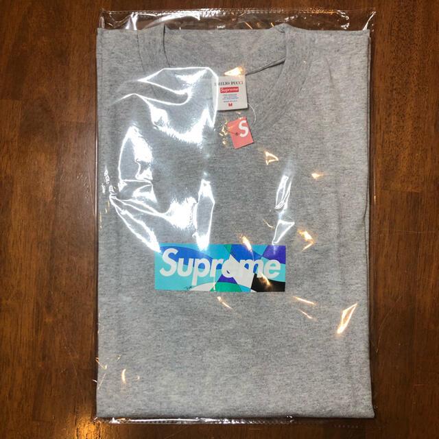 Supreme(シュプリーム)のSupreme Emilio Pucci Box Logo Tee 灰青M メンズのトップス(Tシャツ/カットソー(半袖/袖なし))の商品写真