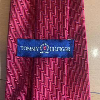 TOMMY HILFIGER - トミーヒルフィガー ネクタイ レッド 赤 ワンポイント 本物