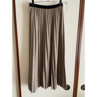 ディーホリック(dholic)の《未使用》ヘリンボーンプリーツスカート dholic ロングスカート(ロングスカート)