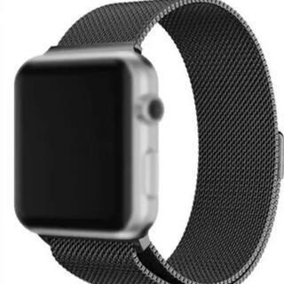 Apple Watch - Apple watch ミラネーゼループバンド ブラック 42/44mm