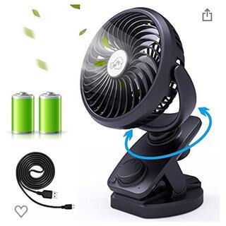 扇風機 首振り 卓上扇風機 クリップ扇風機 Lifeholder 5000mAh