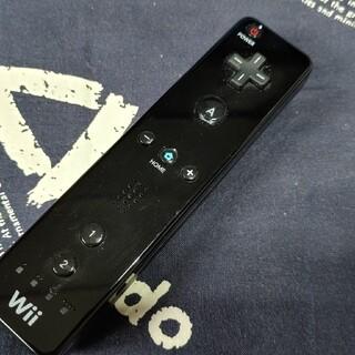 ウィー(Wii)の【送料無料】任天堂 Wiiリモコンプラス Nintendo 黒 クロ ニンテンド(その他)