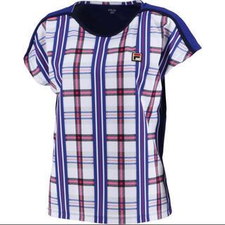 フィラ(FILA)のフィラ テニスウェア ゲームシャツ Tシャツ チェック柄(ウェア)