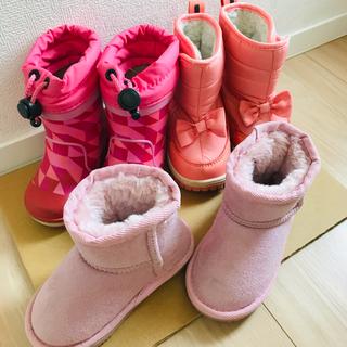 プティマイン(petit main)の女の子 冬靴 ブーツ 3足セット petit main uzuland IFME(ブーツ)