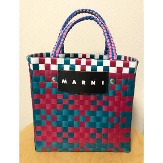 マルニ(Marni)のMARNI ジャージーハンドル ピクニックバッグミニ(かごバッグ/ストローバッグ)