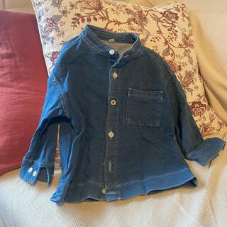 MUJI (無印良品) - 無印 デニムシャツ 90cm 羽織り デニム 男の子 女の子 秋服 冬服
