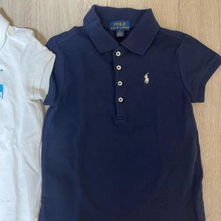 ポロラルフローレン(POLO RALPH LAUREN)の新品 ラルフローレン ポロシャツ キッズ 6y 120 ネイビー 女の子(Tシャツ/カットソー)