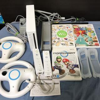 Wii - 2人で遊べる wiiリモコンとハンドル マリカなど