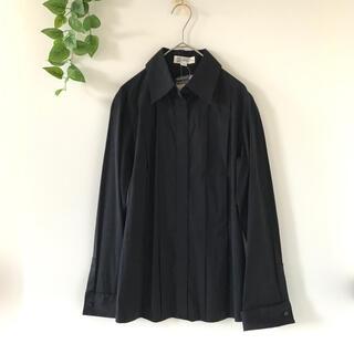MICHEL KLEIN - タグ付き ミッシェルクラン とろみシャツ トップス ブラック 長袖 伸縮性あり