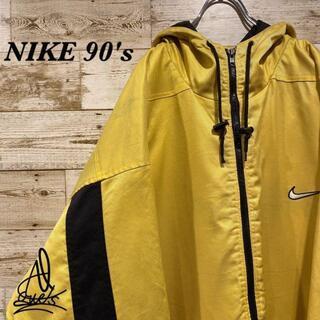 ナイキ(NIKE)の《白タグ90s》NIKE ナイキ ジャケット L ☆イエロー 黄色 バックロゴ(その他)