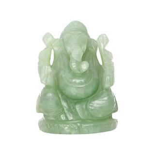 豊穣・英知・商売繁盛の神/グリーンアベンチュリン/ガネーシャ/ac-10217(彫刻/オブジェ)